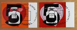 """2021 - """"COEUR CHANEL N° 5 PARIS PARFUM """" - 1,08 + 2,16 - ISSU MINI-FEUILLET - OBLITERE 1er JOUR 22.01.21 - Gebraucht"""
