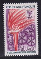 Flamme Olympique Avec Mèches Violettes  ,   Sur  N° 1545( 2101/16.1) - Curiosités: 1950-59 Neufs