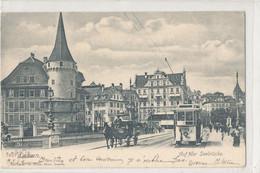 Suisse - Lucerne - Auf Der Seebrucke - Tramway Et Calèche - LU Lucerne