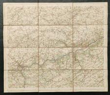 Carte Topographique Toilée Militaire STAFKAART 1906 Namur Huy Marche-les-Dames Nameche Andenne Waremme Engis Ocquier - Topographical Maps