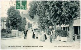 95 LA ROCHE-GUYON - Rue Du Pont Et Maison Rouge - La Roche Guyon