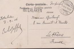 "CP - ""INTERLAKEN"" + AMBULANT N°15  / 4.IX.06 - Briefe U. Dokumente"