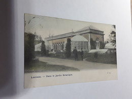 GEKLEURDE POSTKAART LOUVAIN DANS LE JARDIN BOTANIQUE LEUVEN 1905 - Leuven