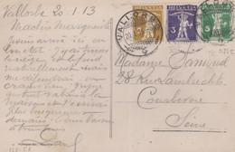 CP - OBL. VALLORBE / 20.1.13 - Briefe U. Dokumente