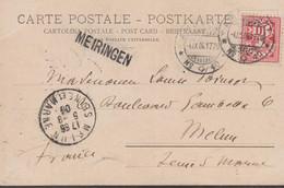 "CP - ""MEIRINGEN"" + AMBULANT N°40 / 4.IX.06 - Briefe U. Dokumente"