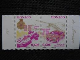 MONACO 2006 Y&T  N° 2577 & 2578 ** - COURSES AUTOMOBILES - Unused Stamps