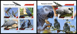S. TOME & PRINCIPE 2020 - Grey Parrot, M/S + S/S. Official Issue [ST200623] - Papageien