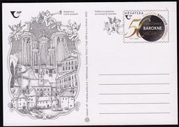 Croatia 2020 / Varazdin Baroque Evenings, 50th Anniversary, Art,  Music, Angels, Violin, Trumpet / Postal Stationery - Croacia
