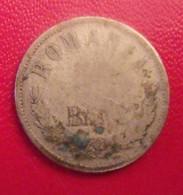 Roumanie Romania 50 Bani 1876. Argent Silver - Romania