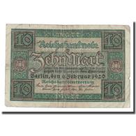 Billet, Allemagne, 10 Mark, 1920, 1920-02-06, KM:67a, TB+ - 10 Mark