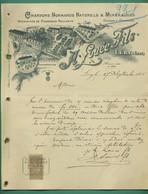 27 Léry Louée Fils Chardons Normands Naturels ( Logo Dépot Acquigny Route Nationale Médaille Mérite Agricole) 27 9 1905 - Old Professions