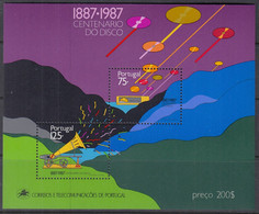 PORTUGAL Block 55, Postfrisch **, 100 Jahre Schallplatte 1987 - Blokken & Velletjes