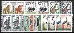 """NIGER Afrique : """" FAUNE """" Série 96A à 108 * (cote 21,oo €) - Niger (1960-...)"""