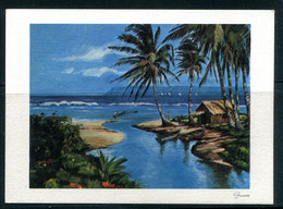 GUAM - Net Fisching, Agana Bay (carte Vierge) - Guam