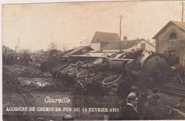 Courville, Accident De Chemin De Fer Du 14 Février 1911, Carte-photo **SUPERBE** - Courville
