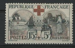 """N° 156 COTE 140 € Neuf * (MH). TB. """"15ct + 5ct Au Profit De La Croix Rouge"""". - Ongebruikt"""
