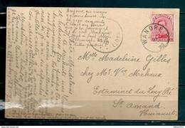 Postkaart Van Wandre Naar St Amand Hainaut - 1915-1920 Albert I