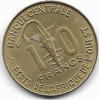 AFRIQUE DE L OUEST...10 FRANCS..2 PIECES .BANQUE CENTRALE1984-1976.... - Unclassified
