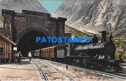 152127 SWITZERLAND GOESCHENEN TUNNEL GOTTHARDBAHN TRAIN POSTAL POSTCARD - Sin Clasificación