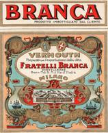 "11161 ""BRANCA-VERMOUTH FRATELLI BRANCA-MILANO""(2)-ETICHETTA ORIGINALE Cm. 14,3 X 11,7 - Unclassified"