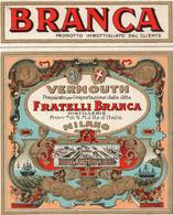 "11162 ""BRANCA-VERMOUTH FRATELLI BRANCA-MILANO""(3)-ETICHETTA ORIGINALE Cm. 14,3 X 11,7 - Unclassified"