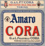 """11163 """"AMARO CORA-G.&L. FRATELLI CORA-TORINO-COSTIGLIOLE D'ASTI""""(1)-ETICHETTA ORIGINALE Cm. 13,5 X 13,3 - Unclassified"""