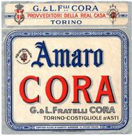 """11165 """"AMARO CORA-G.&L. FRATELLI CORA-TORINO-COSTIGLIOLE D'ASTI""""(3)-ETICHETTA ORIGINALE Cm. 13,5 X 13,3 - Unclassified"""