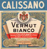 """11166 """"CALISSANO-VERMUT BIANCO-S.A. LUIGI CALISSANO & FIGLI-ALBA""""(1)-ETICHETTA ORIGINALE Cm. 14,1 X 13,7 - Unclassified"""