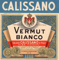 """11168 """"CALISSANO-VERMUT BIANCO-S.A. LUIGI CALISSANO & FIGLI-ALBA""""(3)-ETICHETTA ORIGINALE Cm. 14,1 X 13,7 - Unclassified"""