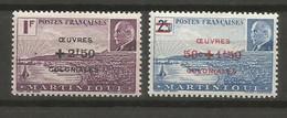 Timbre De Colonie Française Martinique Neuf * N 196 / 197 - Unused Stamps