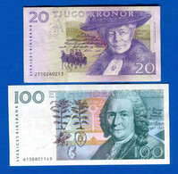 Suède  2  Billets - Schweden