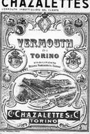 """11172 """"CHAZALETTES-VERMOUTH DI TORINO""""TRAMWAY-(1)-ETICHETTA ORIGINALE Cm. 17,0 X 11,6 - Unclassified"""