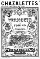 """11174 """"CHAZALETTES-VERMOUTH DI TORINO""""TRAMWAY-(3)-ETICHETTA ORIGINALE Cm. 17,0 X 11,6 - Unclassified"""