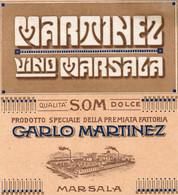 """11178 """"MARTINEZ-VINO MARSALA-QUALITA' DOLCE-CARLO MARTINEZ-MARSALA""""(1)-ETICHETTA ORIGINALE Cm. 12,9 X 11,8 - Unclassified"""