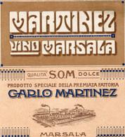 """11179 """"MARTINEZ-VINO MARSALA-QUALITA' DOLCE-CARLO MARTINEZ-MARSALA""""(2)-ETICHETTA ORIGINALE Cm. 12,9 X 11,8 - Unclassified"""