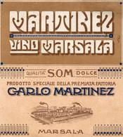 """11180 """"MARTINEZ-VINO MARSALA-QUALITA' DOLCE-CARLO MARTINEZ-MARSALA""""(3)-ETICHETTA ORIGINALE Cm. 12,9 X 11,8 - Unclassified"""