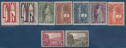 Belgique Série 1ere Orval Perforée COB 258A* à 266AA* Tome 2/p53 (vendu Par Le Comité D'Orval Jusqu'en Avril 1930) - Nuevos