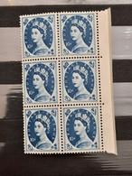 Grande-Bretagne - 1960-67 - Neuf** - Bloc De 6 : Queen Elizabeth II - Unused Stamps