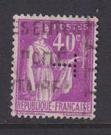 Perfin/perforé/lochung France No 281 T (4?) - Perforadas