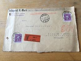 K15 Deutsches Reich 1930 Wertbriefvorderseite Von Köln Nach Prag - Storia Postale
