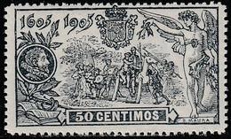 1905. ** Edifil: 263. III CENTENARIO DEL QUIJOTE - Gebruikt