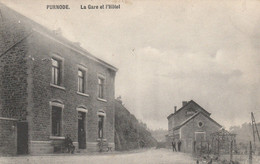 Purnode ,( Yvoir ), La Gare Et L' Hotel ,(  Ligne De Train 128 Dorinne - Durnal Et Spontin ) - Yvoir