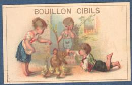 Chromo Bouillon Cibils Enfants Enfant Fillette Poule Et Ses Poussins Dans Une Cour De Ferme Fermier Fermière - Ohne Zuordnung