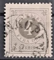 SWEDEN 1886 - Canceled - Sc# 42 - 4o - Oblitérés
