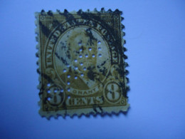 UNITED STATES USED STAMPS WITH PERFINS  2 SCAN  WITH  POSTMARK - Perforados
