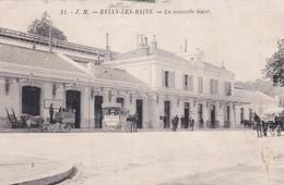 """EVIAN """" TOP RARE La Nouvelle Gare, Belle Animation """"      N°8177 - Evian-les-Bains"""