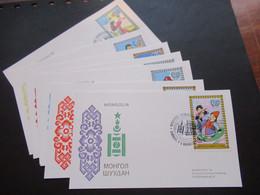 Asien Mongolei / Mongolia 1977 / 78 Sonderkarten 7 Stk. Sonderstempel Postwertzeichen Ausstellung Nordposta - Mongolia