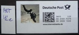 Lot Motorrad 42c German Internet-stamp M-Cross Freerider German Internet-stamp Unused Showing A Moto Cross Rider Jumping - Motos