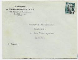 GANDON 2FR PERFORE VB VARIN BERNIER BANQUE LETTRE DE PARIS ANNULATION GRIFFE SENS YONNE - 1945-54 Marianne De Gandon