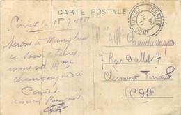 CACHET TIMBRE A DATE TYPE B3 - PERRIER -  PUY DE DOME 1911 - 1877-1920: Semi Modern Period